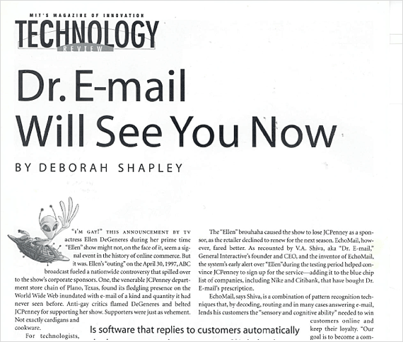 Technology Review: Dr. E-Mail Will See You Now