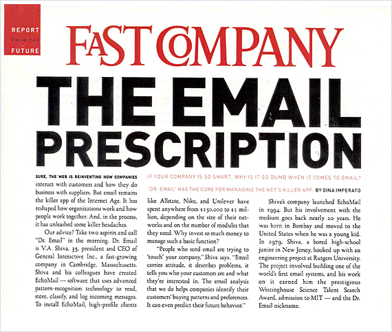 Fast Company: The E-Mail Prescription