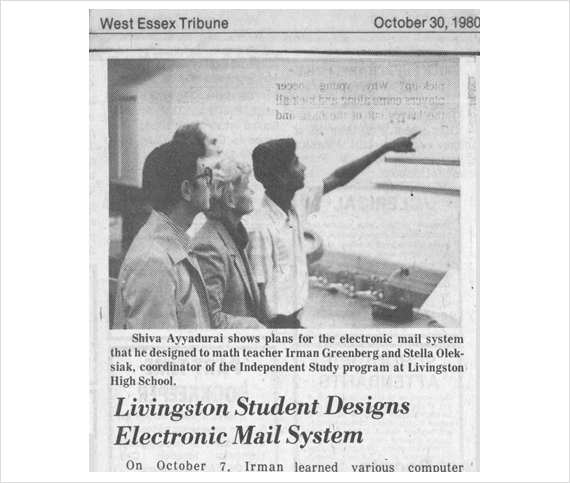 West Essex Tribune: Livingston Student Designs Electronic Mail System