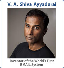 V. A. Shiva, Dr. E-Mail, Inventor of the World's First E-Mail System is an E-Mail Expert and an Expert in E-Mail Marketing and E-Mail Management